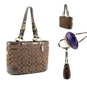 COACH | New Gallery Signa | Brown Gold Canvas Tote